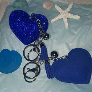 Accessories - SPARKLY PUFFY HEART CHARM/KEYCHAIN